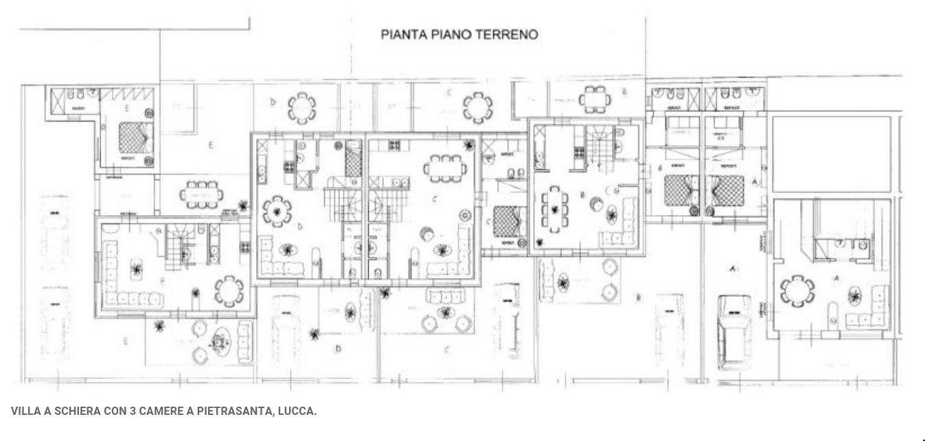 Rif f113 villa a schiera in vendita a marina di for Piani immobiliari