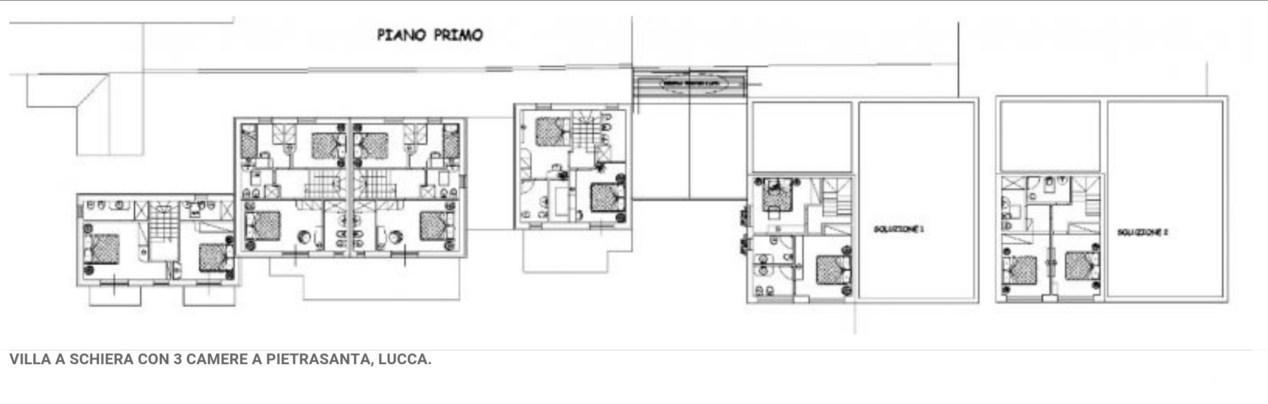 Rif f113 villa a schiera in vendita a marina di for Pianta villetta a schiera